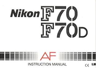 Nikon F70/F70D AF Original Instruction Manual (US Model Nikon N70)
