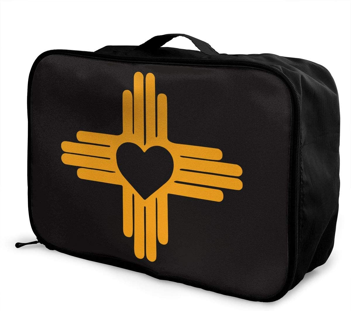Zia With Heart Symbol - New L Max 87% OFF State Flag Deluxe Lightweight Tote Mexico