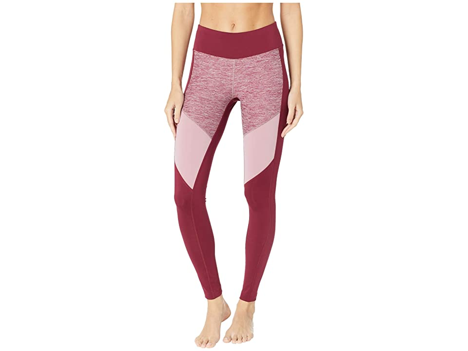 Reebok Melange Tights (Rustic Wine) Women