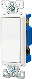 Eaton 7504W-SP-L 15-Amp, 120-Volt Standard Grade 4-Way Decorator Switch, White