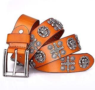 Unione da Uomo in Pelle Fibbia Bandiera automatico a cricchetto Casual Moda Cintura