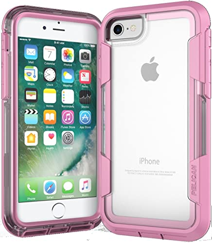 Pelican Voyager iPhone 7 Case (Clear/Pink)