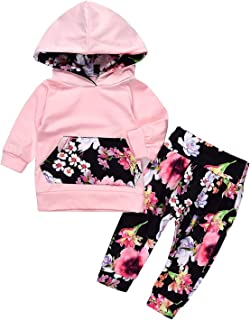 AU Newborn Kid Baby Girl Clothes Hooded Top Floral Leggings Pant Headband Outfit