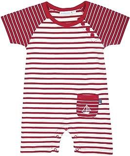 JoJo Maman Bebe Baby Boys' Breton Striped Romper (Baby)-Ecru/Navy