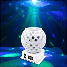 أضواء الحفلات النشطة بالصوت، كرة ديسكو ذات 7 ألوان RGB ديكور إضاءة دي جي معدات للمسرح والرقص وهدية الكريسماس وعيد الشكر KT...