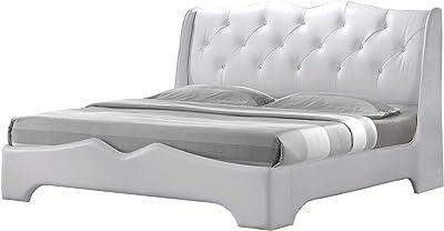 Best Master Furniture Madrid Platform White Bed Queen