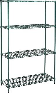 Nexel 798765 4-Shelf Wire Shelving Unit, 18