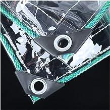LIANGJUN transparant dekzeil, plastic waterdicht gordijn, dekzeil voor buiten, regenbescherming, 0,3 mm dik dekzeil met tu...