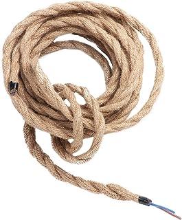 Cable de alambre trenzado vintage de Flox, 5 m, 2/3 núcleos, cable de luz retro, alambre de cobre con tela para DIY LED, lámpara colgante, mesa, suelo, lámpara de pared