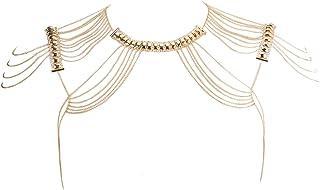 comprar comparacion Beauty7 Cadena de Cuerpo Gargantillas Aleación Dorado Multicapa Múltiples Capas Collares Bisutería Borlas Colgantes Cóctel...