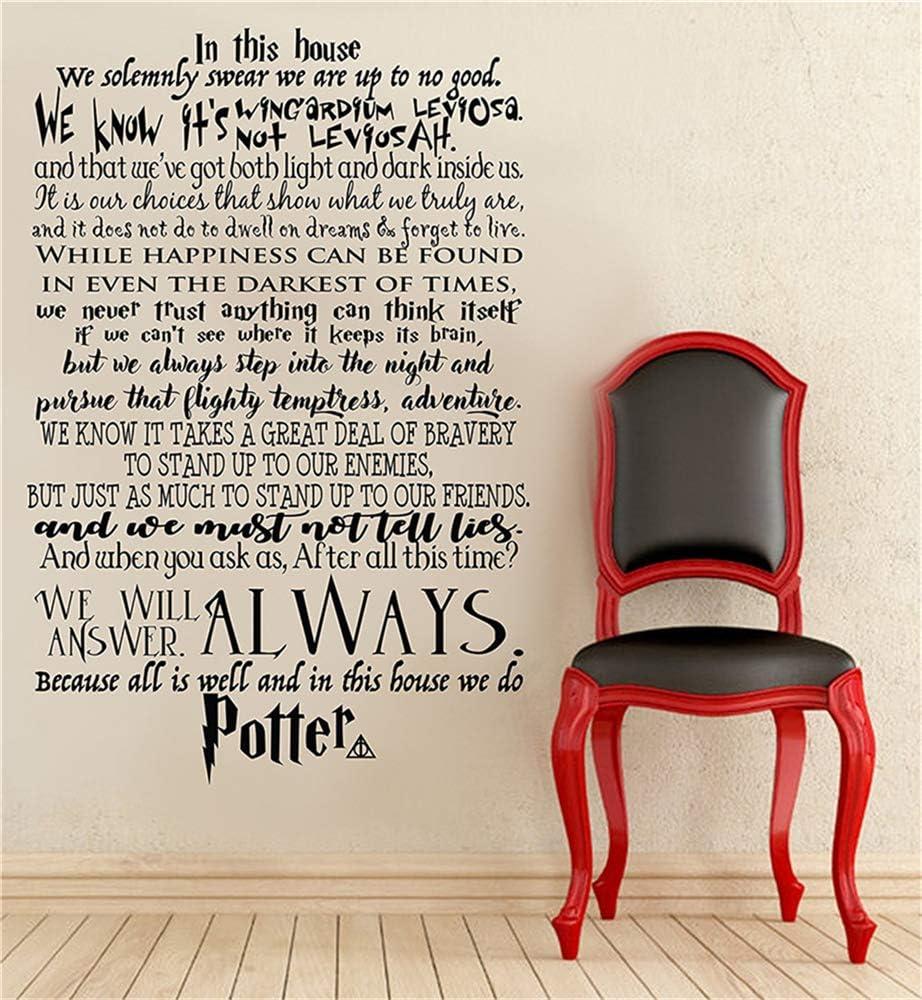 Wandaufkleber Gross In Diesem Haus Tun Wir Potter Wir Machen Harry Potter Wandtattoo Harry Potter Zitat Wandtattoo Schriftzug Vinyl Aufkleber Amazon De Baumarkt