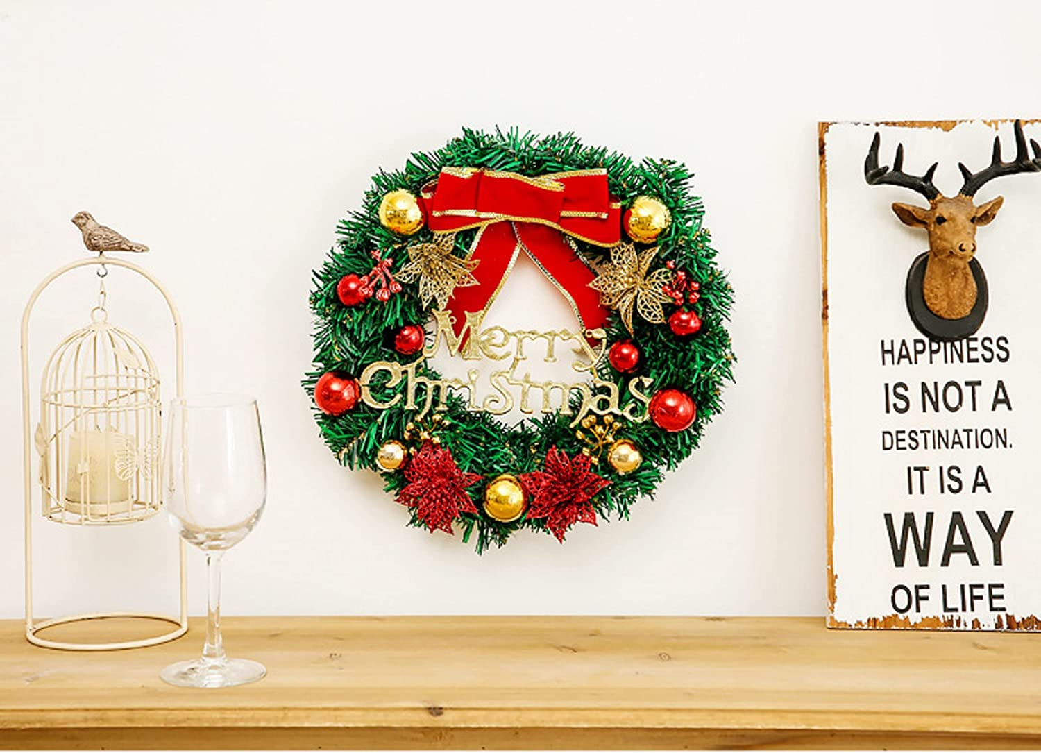 12 inch Christmas Wreath Artificial Decorations Max 88% OFF Suit Fresno Mall