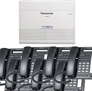 Panasonic Small Office Business Phone System Bundle Brand New includiing KX-T7730 7 Phones Black and KX-TA824 PBX Advanced Phone System