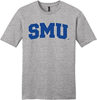NCAA SMU Mustangs Arch Soft Style T-Shirt, Medium, Light Heather Grey