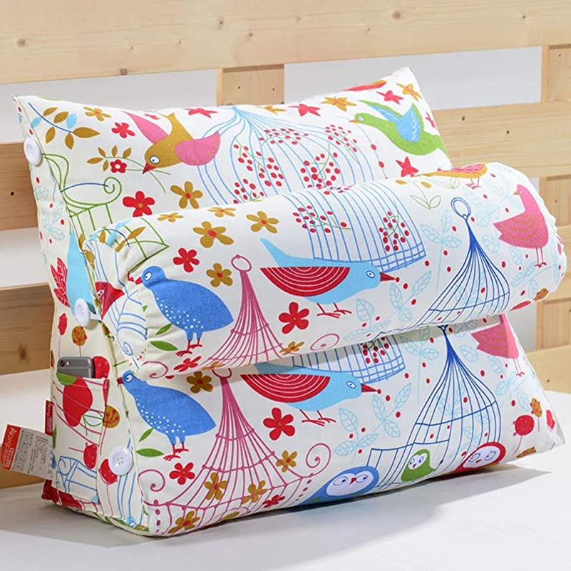 ほのか乱れ交響曲YQCS●LS 100%ポリエステルクッション大型枕、ヘッドレストバック三角枕、ソファーオフィスチェアリーディングベッドレスト枕。