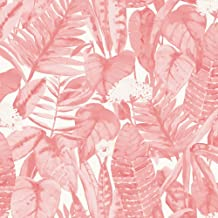 Tempaper TR10631 Tropical Removable Peel and Stick Wallpaper, 28 sq. ft, Pink Lemonade