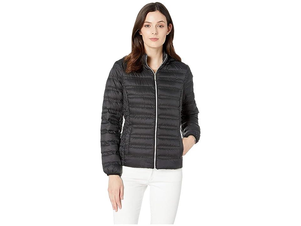 MICHAEL Michael Kors Zip Front Packable with Removable Hood M823964M (Black) Women