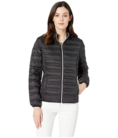MICHAEL Michael Kors Zip Front Packable with Removable Hood M823964M (Black) Women