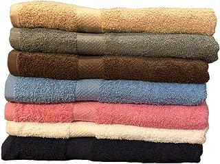 ArtMuseKitsMikash ecotowel ECO Towels 6-Pack Bath Towels - Extra-Absorbent - 100% Cotton - 27