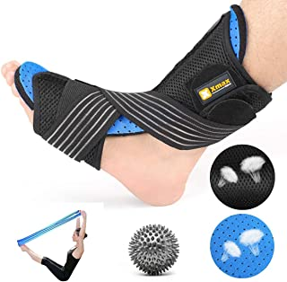 Plantar Fasciitis Orthotic Splint Kit-Breathable Night Brace Corrective Support Pain Relief from Plantar Fasciitis Drop Foot Achilles Tendonitis
