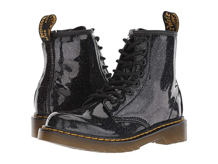 27b12b874727 Dr. Martens Kid's Collection 1460 Patent Glitter Junior Delaney Boot  (Little Kid/Big Kid)