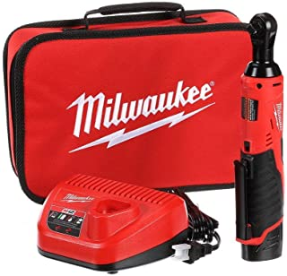 Milwaukee 2457-21 3/8-in Cordless M12 Lithium-Ion Ratchet Kit (Ratchet Kit w/Tool Bag)