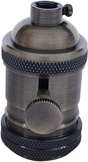 Adanse E27 - Portalámparas de lámpara con interruptor, color bronce