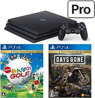 PlayStation 4 Pro + New みんなのGOLF + Days Gone セット (ジェット・ブラック) (CUH-7200BB01)【特典】オリジナルカスタムテーマ(配信)