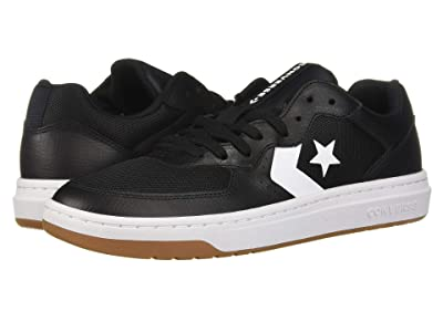 Converse Converse Rival Leather Ox (Black/White/Gum) Men
