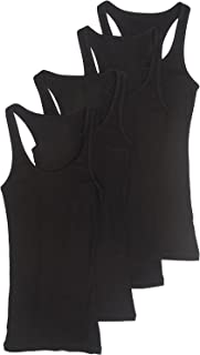 Outfitters 4 Pack Womens Basic Ribbed Racerback Tank Top