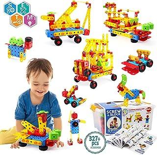 VATOS Bloques de Construcción Stem Toy 316 Pcs Juguete de Construcción Creativa Juguete de Aprendizaje Bloques de Ingenier...