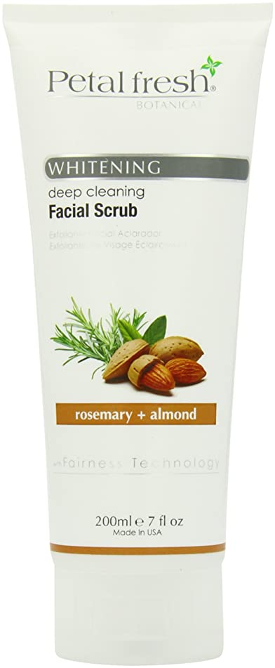 Bio Creative Lab Petal Fresh Botanicals Whitening and Facial Scrub, Rosemary and Almond, 7 Ounce