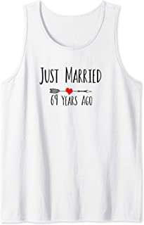 JUST MARRIED 69 YEARS AGO 69th wedding anniversary gift Tank Top