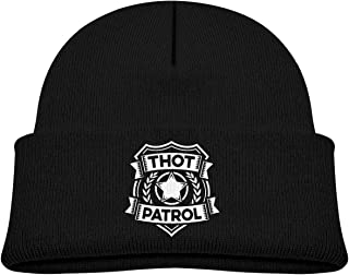 Thot Patrol Kids Winter Knitted Hat, Boy/Girl Stretchy Toddler Children's Beanie Knitted Cap Black