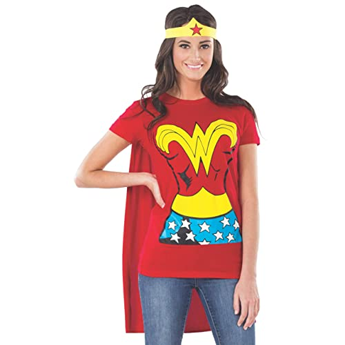Ladies Wonder Woman Costume Dress With Wings Super Hero Women Fancy Dress Outfit