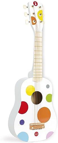 Janod - Guitare en Bois Confetti - Instrument de Musique Enfant - Jouet d'imitation et d'Éveil Musical - Rouge - Dès ...