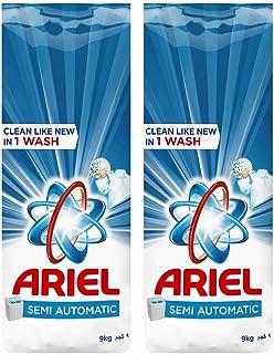 Ariel Laundry Powder Detergent, Original Scent, 9 KG, Dual Pack