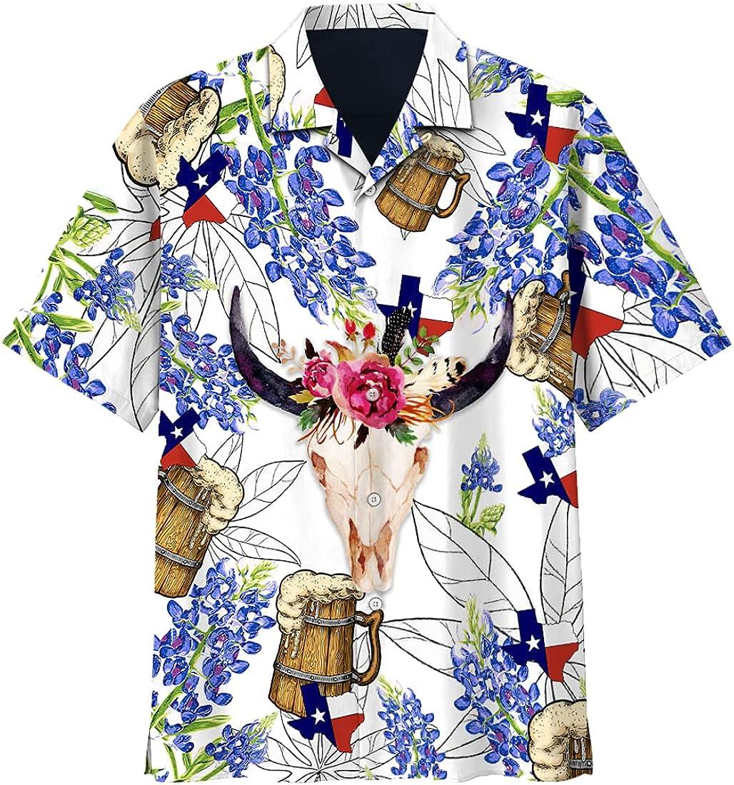 Drinking Hawaiian Shirts for Men Women - Tropical Beverage Button Down Mens Hawaiian Shirts Short Sleeve Set 200