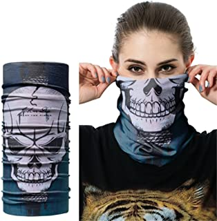 O-C Horror Skull Gimmick Multi-Functional Magic Headband Bandanna Headwrap Outdoor Sport Elastic Seamless Scarf Face Mask,Balaclava UV Resistance Riding Skiing,Hunting