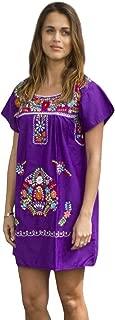 Liliana Cruz Embroidered Mexican Peasant Mini Dress