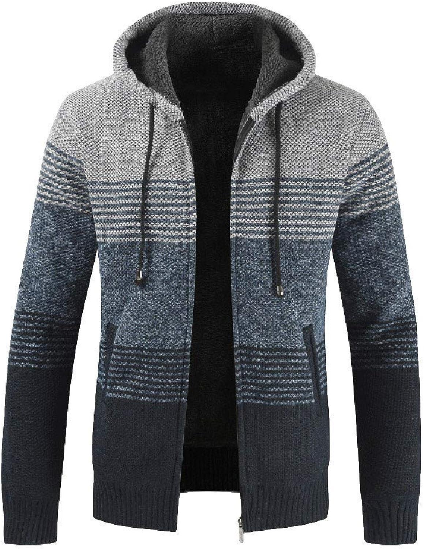 81f2c56f5 Fashion Men's Slim Warm Hooded Outwear Outwear Outwear Stand Collar ...