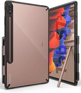 Ringke Fusion Hoes Ontworpen voor Galaxy Tab S7 Plus Case (2020) met S Pennenhouder met Riemgaten - Smoke Black