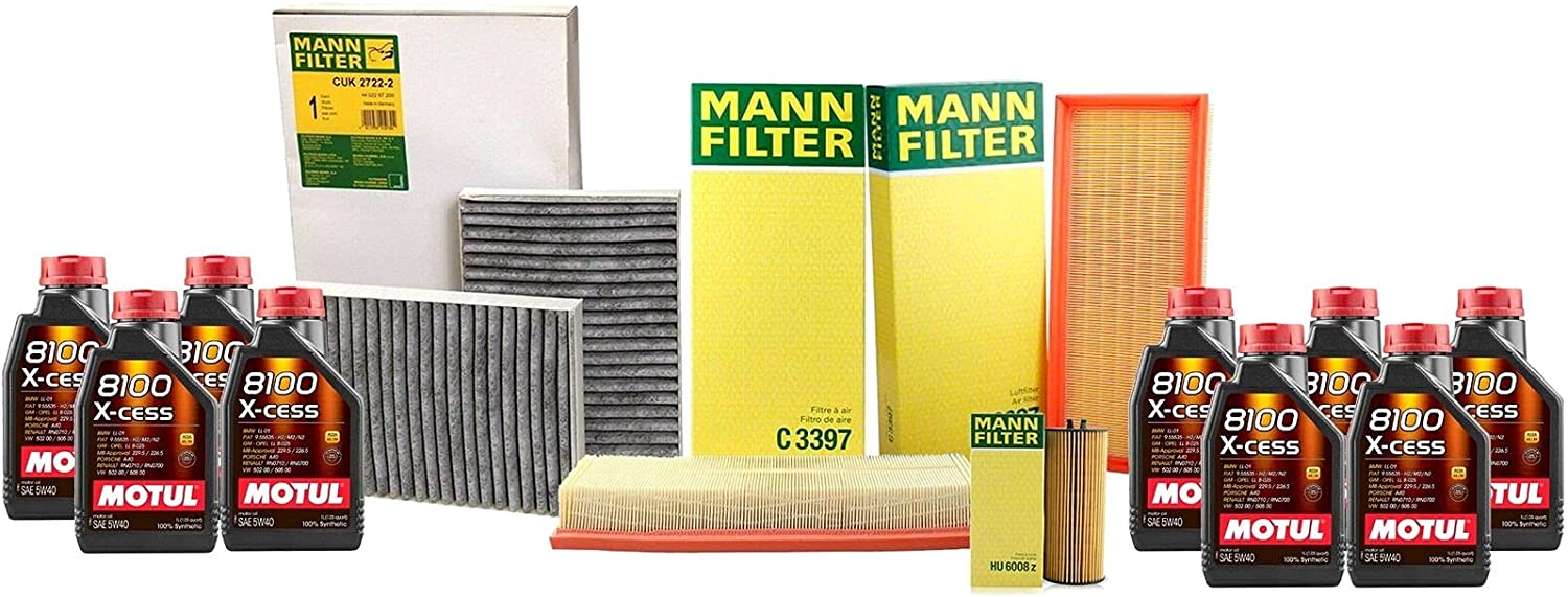 9L 8100 X-CESS Max 70% OFF 5W-40 Oil Filter with Compatible Super sale period limited W221 kit Service