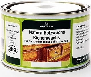 Natura Holzwachs Bienenwachs Möbelwachs Antikmöbel Wachs EN71-3 Nussbaum dunkel - 63