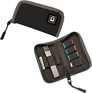 Carrying Case Cover Holder Wallet for JUUL - Fits Most Popular Vapes, Pods & USB Charger - Device Not Included