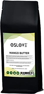 Mango Butter 1 LB by Oslove Organics -Pure, Natural, Hand -packed, Fresh and Fluffy in DIY mixes, Extra emolliency for lot...