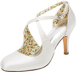 cd75f081 Emily Bridal Zapatos Nupciales Zapatos de Boda de la Vendimia Bombas de  tacón Alto Zapatos de