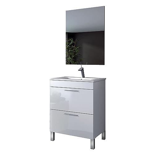 ARKITMOBEL Althea Mueble de baño, Madera contrachapada, Blanco ...