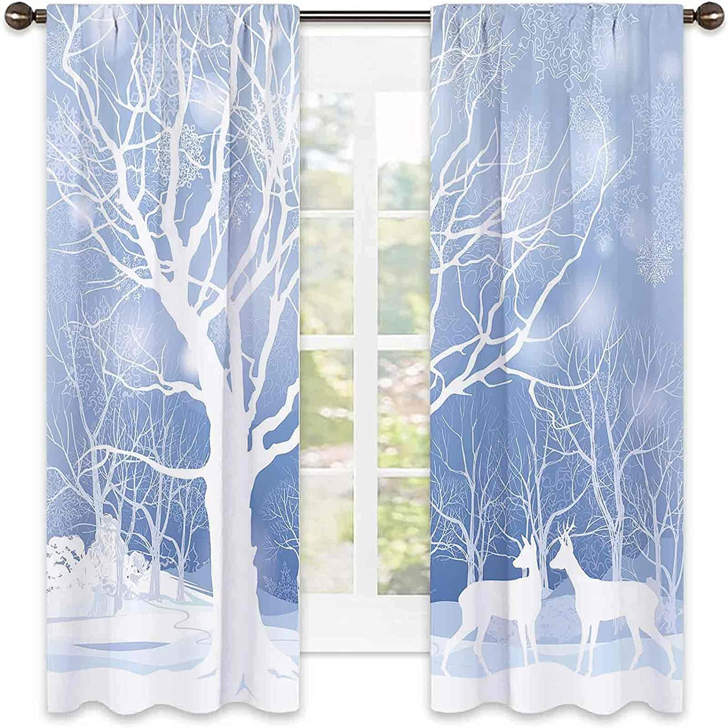 Winter Bombing free shipping Outstanding Shading Insulated Curtain S with Abstract Imagery