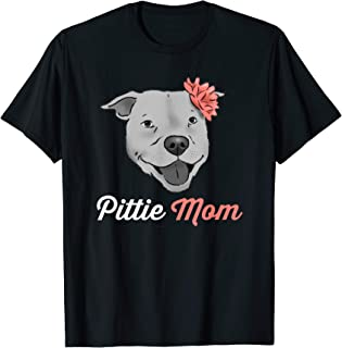 41ce4d1b71717 Pittie Mom T-Shirt, Pitbull Mom Shirt, Cute Pitbull Drawing